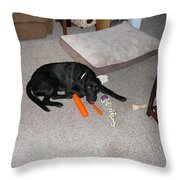 This Carrot Is Delicious   Throw Pillow
