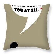 Don't Think About - Mad Men Poster Don Draper Quote Throw Pillow