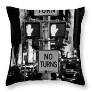 Don't Walk At Times Square Throw Pillow