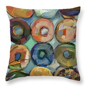 Donuts Galore Throw Pillow