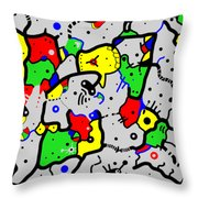 Doodle Abstract Throw Pillow