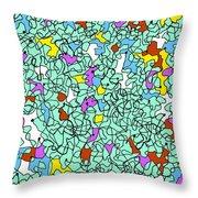 Doodle Bug 3 Throw Pillow