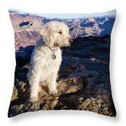 Doodle On Grand Canyon Rim Throw Pillow
