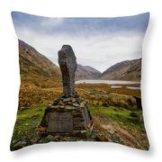 Doolough Famine Memorial Cross Throw Pillow