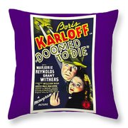 Doomed To Die Throw Pillow