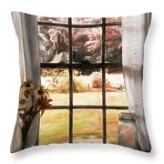 Doomesday Silence Throw Pillow