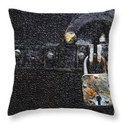 Door And Lock Throw Pillow