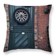 Door And Wheel Throw Pillow