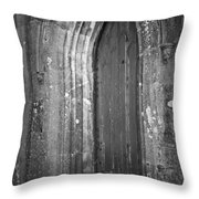 Door At Protestant Church Macroom Ireland Throw Pillow