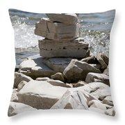 Door County Cairn Throw Pillow