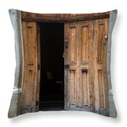 Door Entrance To Church In Guatemala Throw Pillow