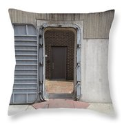 Door In The Richmond Floodwall Throw Pillow