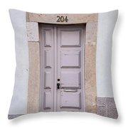 Door No 204 Throw Pillow