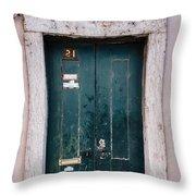 Door No 21 Throw Pillow