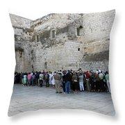 Door Of Humility Throw Pillow