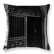 Door Of The Cabildo Throw Pillow