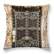 Door - Seville Spain Throw Pillow