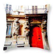 Door To Milan Throw Pillow by Michelle Dallocchio