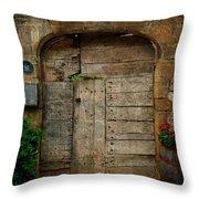 Door To The Secret Garden Throw Pillow