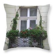 Door Topiary Throw Pillow
