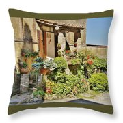Little Paradise In Tuscany/italy/europe Throw Pillow