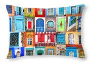 Doors And Windows Of The World - Vertical Throw Pillow