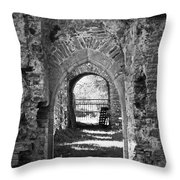Doors At Ballybeg Priory In Buttevant Ireland Throw Pillow