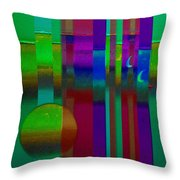 Doors In Green Throw Pillow
