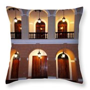 Doors Of San Juan Square Throw Pillow