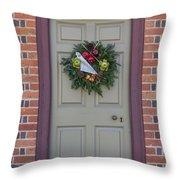 Doors Of Williamsburg 106 Throw Pillow