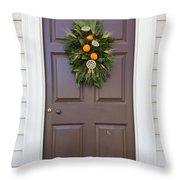 Doors Of Williamsburg 107 Throw Pillow