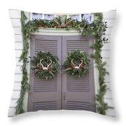 Doors Of Williamsburg 52 Throw Pillow