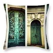 Doors Of Woodlawn Throw Pillow