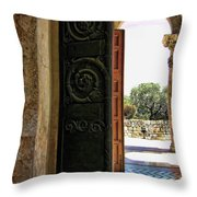 Doors To All Nations Throw Pillow