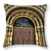 Doors To Holiness Throw Pillow