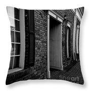 Doorway Black And White Throw Pillow