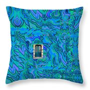 Doorway Into Multi-layers Of Water Art Collage Throw Pillow