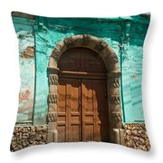 Doorway Quezaltenango Guatemala 1 Throw Pillow