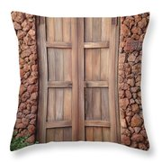 Doorway Steps Back In Time Throw Pillow