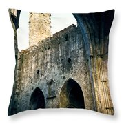 Doorways To The Cashel Castle Throw Pillow