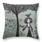 Ninas Garden Throw Pillow