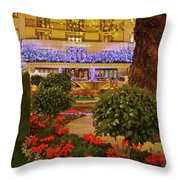 Dorchester Hotel London At Christmas Throw Pillow