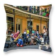 Doreen's Jazz New Orleans 2 Throw Pillow
