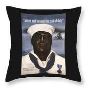 Dorie Miller - Above And Beyond - Ww2 Throw Pillow