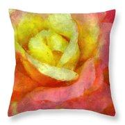 Dorie's Rose Throw Pillow