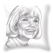 Doris Day  Throw Pillow by Carol Wisniewski