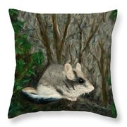 Dormouse In Ivy Throw Pillow
