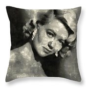 Dorothy Malone Vintage Hollywood Actress Throw Pillow