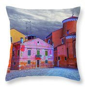 Dorsoduro Colors Under The Clouds 2 Throw Pillow