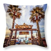 Dory Fishing Fleet Market Picture Newport Beach Throw Pillow by Paul Velgos